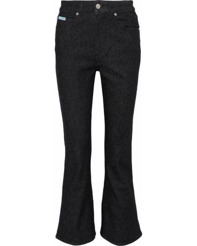 Niebieskie jeansy bootcut bawełniane z paskiem Alexachung