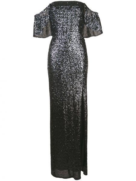 Вечернее платье с пайетками - серое Marchesa Notte
