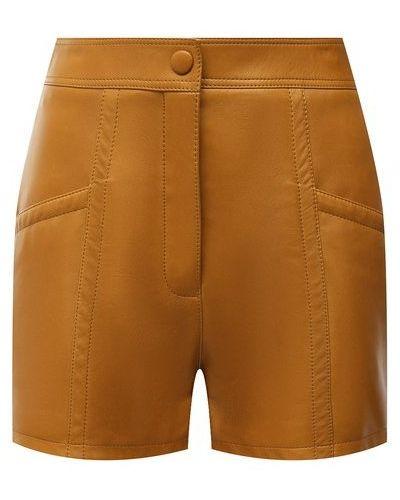 Кожаные шорты - коричневые Saint Laurent