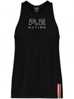 Czarna T-shirt z nadrukiem z printem P.e Nation