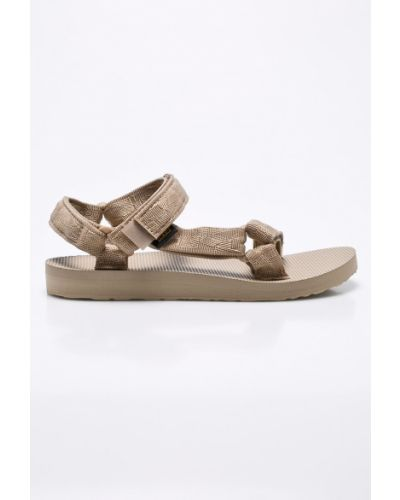 Коричневые сандалии текстильные Teva
