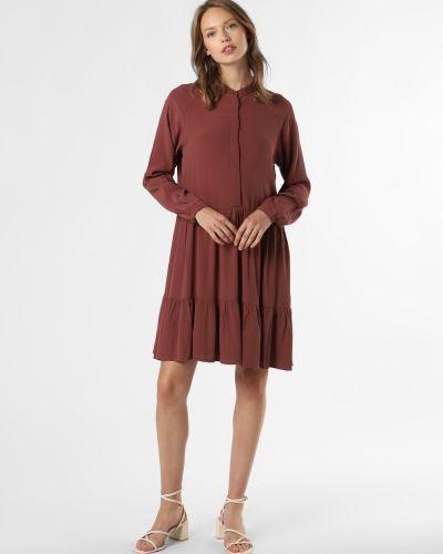 Czerwona sukienka z wiskozy Mbym