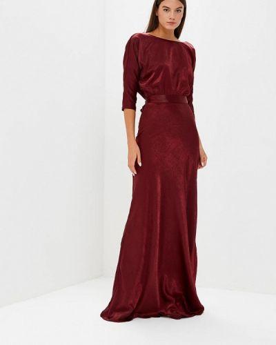 Вечернее платье осеннее красный Tutto Bene