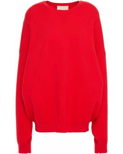 Ażurowy prążkowany sweter z wiskozy Roksanda