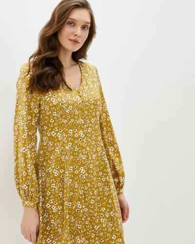 Прямое желтое платье Ichi