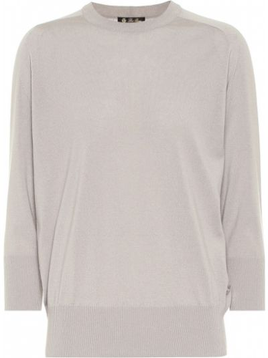Облегающий мягкий кашемировый свитер Loro Piana