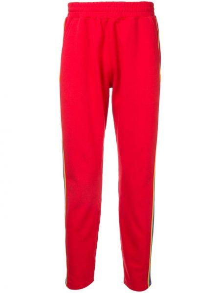 Хлопковые красные спортивные спортивные брюки с поясом Guild Prime