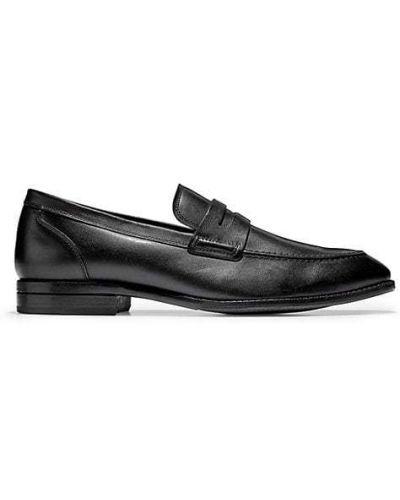 Черные кожаные лоферы на каблуке Cole Haan