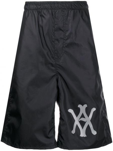 Черные шорты до середины колена Vyner Articles