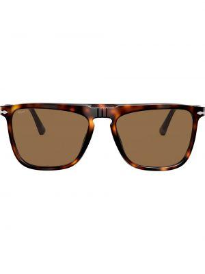 Прямые коричневые солнцезащитные очки квадратные Persol