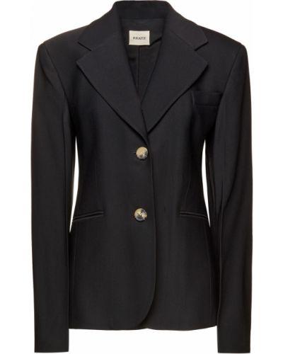 Черный пиджак с карманами из вискозы Khaite