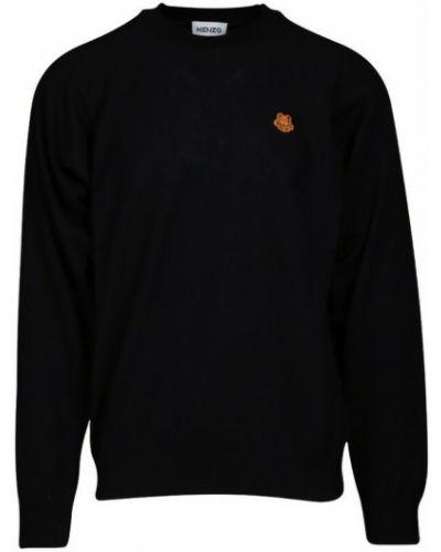 Sweter z haftem - czarny Kenzo