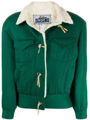 Хлопковая зеленая куртка винтажная A.n.g.e.l.o. Vintage Cult