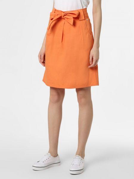 Pomarańczowa spódnica z wiązaniami Apriori