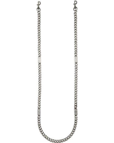 Łańcuszek srebrny - czarny Ksubi