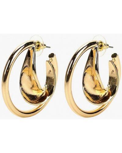 Серьги-кольца золотые Mango