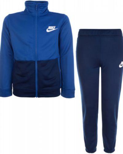 Синий спортивный костюм из полиэстера Nike