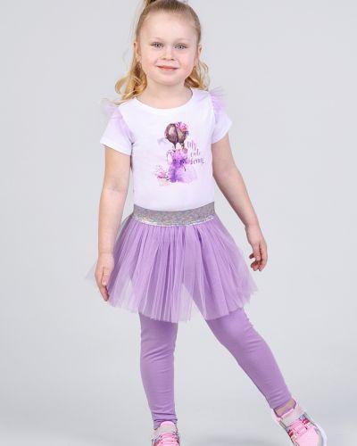 Фиолетовые леггинсы на резинке для танцев Zironka
