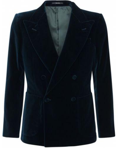 Bawełna aksamit zielony kurtka z kieszeniami Gucci