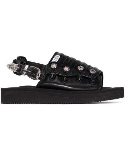 Czarny skórzany sandały Toga Virilis