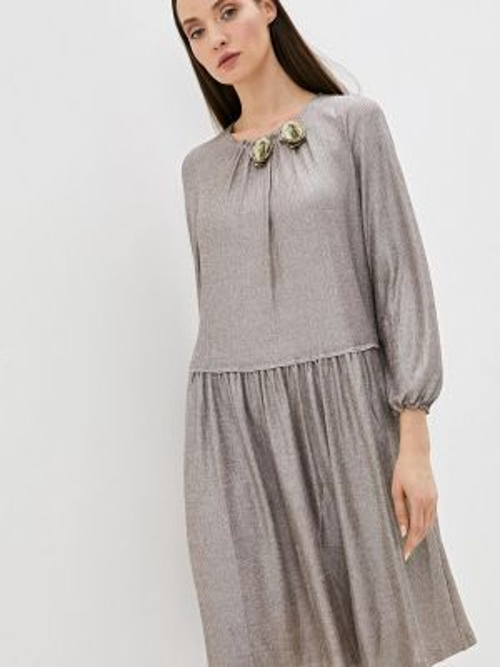 Вечернее платье осеннее бежевое Vera Moni
