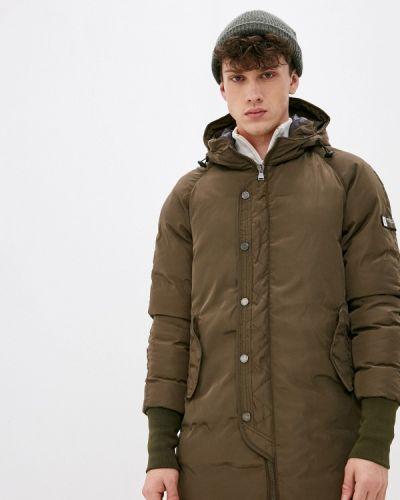 Зеленая утепленная куртка Giorgio Di Mare