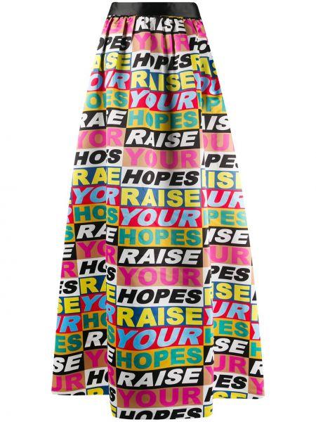 Нейлоновая с завышенной талией юбка макси на молнии с надписью Alice+olivia