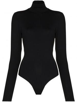 Приталенный хлопковый черный костюм Spanx
