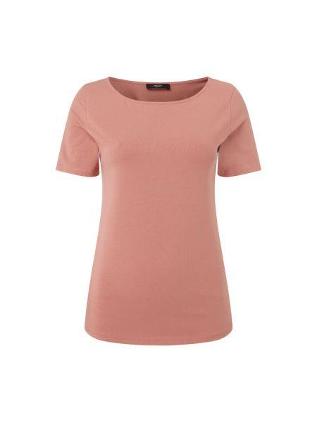 Różowy t-shirt bawełniany Weekend Max Mara