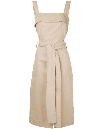 Платье с поясом на бретелях сафари Bambah