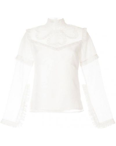 Блузка с длинным рукавом шелковая белая Macgraw