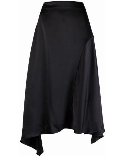 Асимметричная сатиновая черная юбка Misbhv