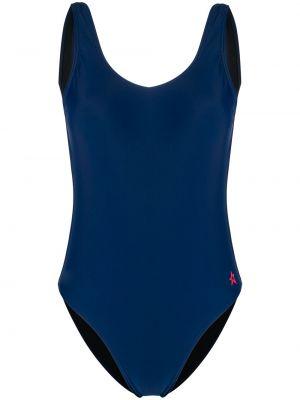 Слитный купальник с вырезом - синий Perfect Moment