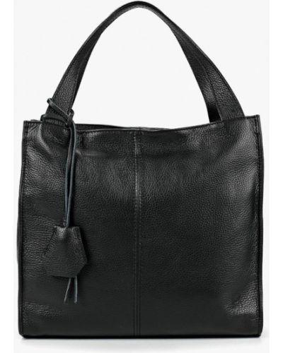 Кожаная сумка шоппер черная Roberto Buono