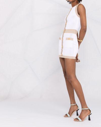 Трикотажное платье - белое Balmain