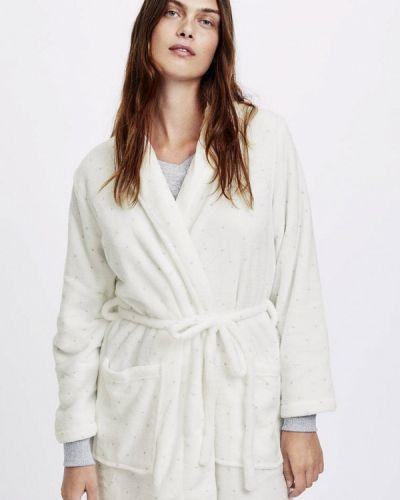 Белый халат домашний Oysho
