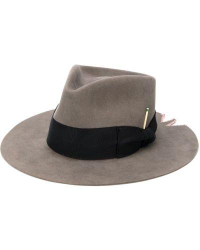 Фетровая шляпа с широкими полями свободного кроя Nick Fouquet