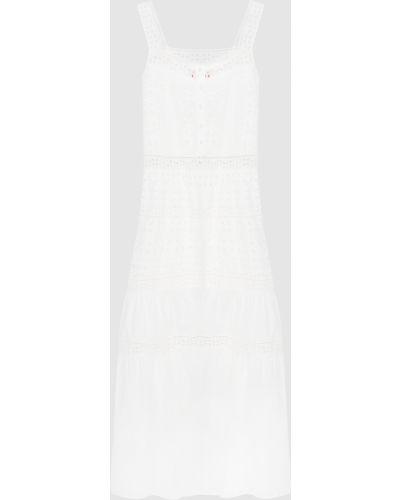 Белое платье макси Ermanno Scervino
