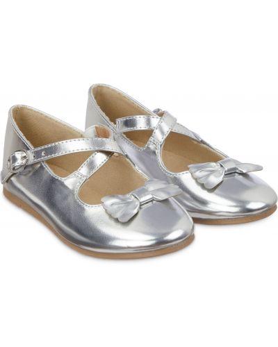 Туфли с бантом серебряный Mothercare