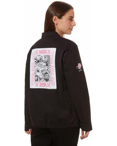Куртка черная розовая Vans