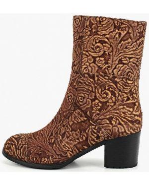 Ботинки на каблуке осенние замшевые Enzo Logana