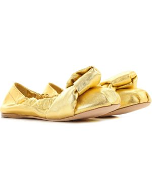 Buty na obcasie na pięcie złoto Miu Miu