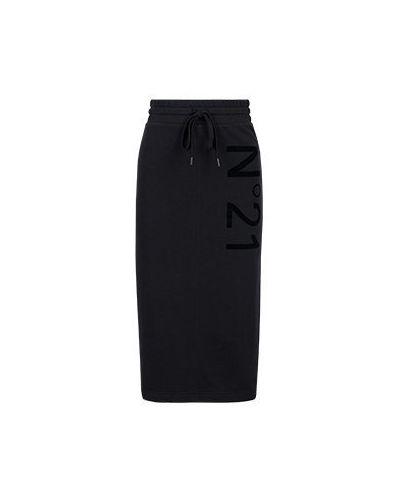 Черная юбка миди No.21