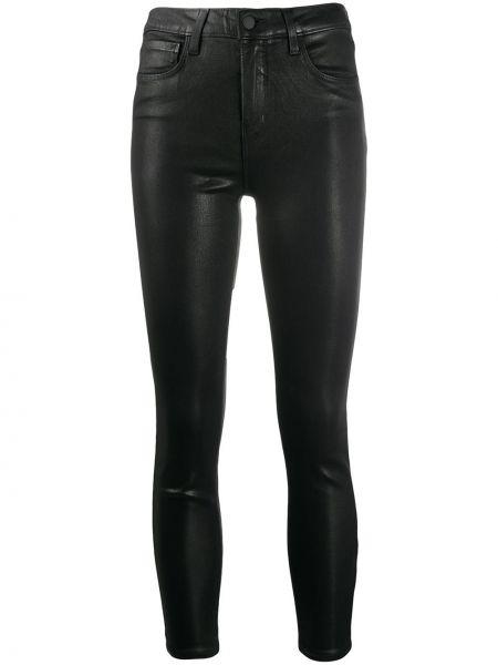 Брючные кожаные черные классические брюки с карманами L'agence