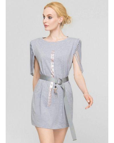 Серое весеннее платье Lo