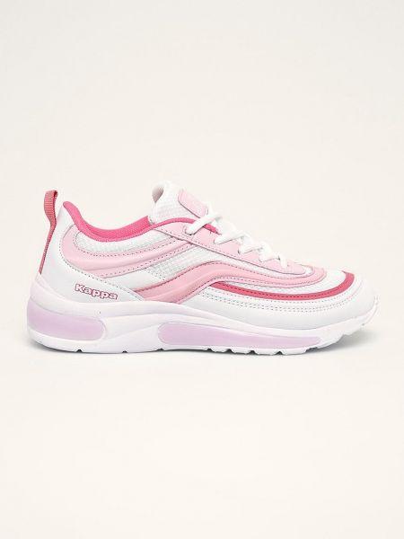 Текстильные розовые кроссовки на шнуровке Kappa