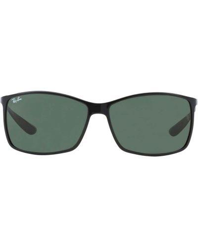 Черные солнцезащитные очки прямоугольные металлические Ray-ban