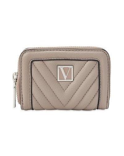 Кожаный кошелек - серый Victoria's Secret