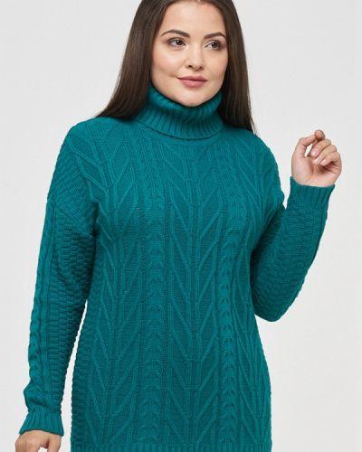Зеленый свитер осенний Vay