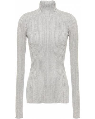 Серебряный шерстяной свитер с манжетами Helmut Lang